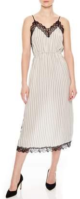Sandro Stripe Lace Dress