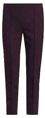 Loro Piana Women's Mirel Double Wool Stretch Cropped Pants