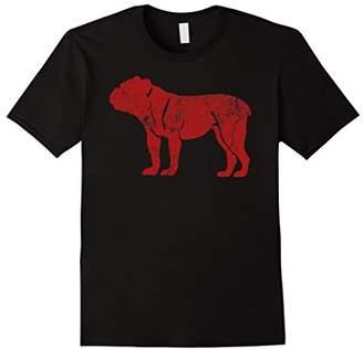 Breed English Bulldog Loving Red Silhouette T Shirt