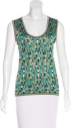 Zac Posen Sleeveless Embellished Knit Top