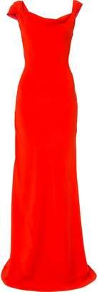 Oscar de la Renta cowl-neck gown