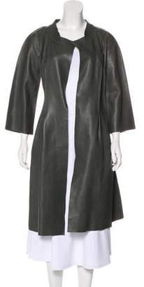 Marni Long Leather Coat