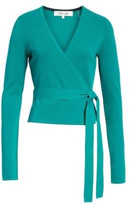 Diane von Furstenberg Knit Wrap Top