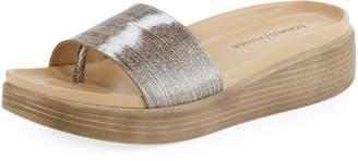 Donald J Pliner Fiji Glitter Slide Sandal