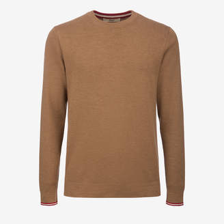 Bally Wool Knit Crewneck Jumper Brown 48