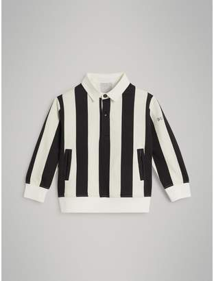 Burberry Childrens Striped Cotton Jersey Rugby Shirt