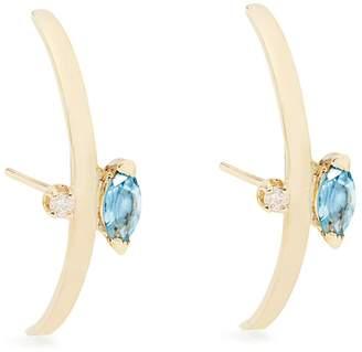 Loren STEWART Diamond, topaz and yellow-gold earrings