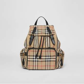 Burberry The Medium Rucksack in Icon Stripe Nylon