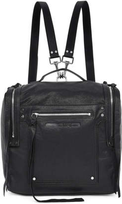 McQ Black Convertible Loveless Box Backpack