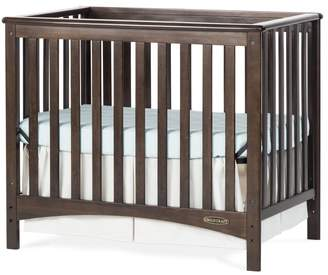 Child Craft London Euro 2-in-1 Mini Convertible Crib with Mattress Brown: Slate