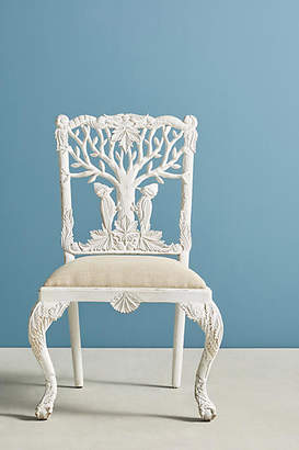 Anthropologie Handcarved Menagerie Woodpecker Dining Chair
