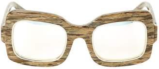Dax Gabler Brown Plastic Sunglasses