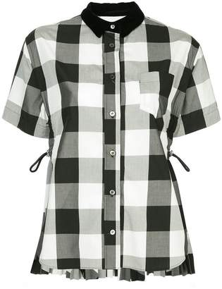 Sacai checked button shirt