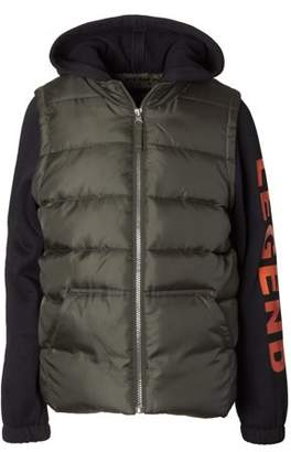 iXtreme Puffer Vest with Hood and Sleeves (Big Boys)