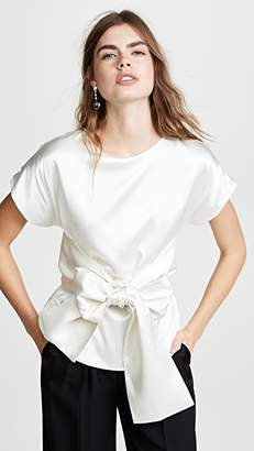 Leal Daccarett Lido Top with Ranglas Sleeves and Bow Belt