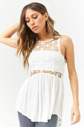 Forever 21 Floral Crochet Tunic