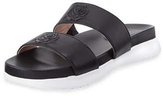 Taryn Rose Ina 2-Band Leather Slide Sandals