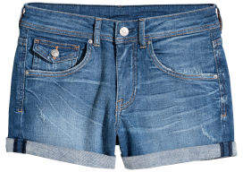 H&M Denim Shorts Regular Waist - Blue