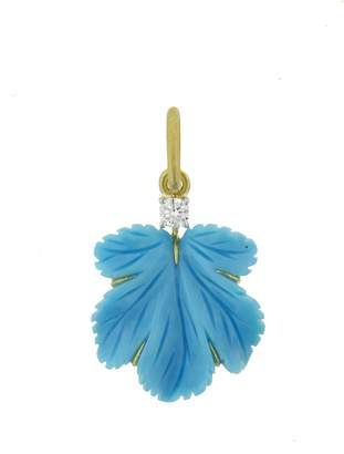 Irene Neuwirth Carved Turquoise Leaf Charm