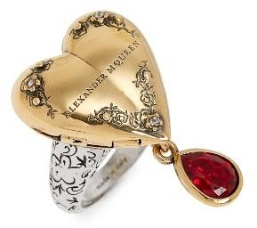 Alexander McQueenWomen's Alexander Mcqueen Jeweled Locket Ring