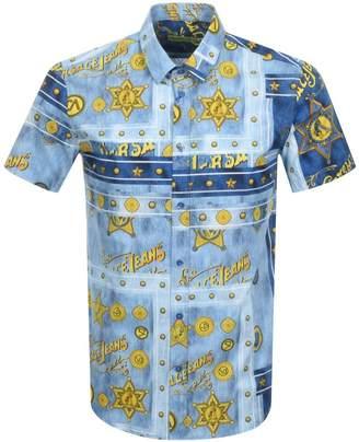 Versace Short Sleeved Logo Shirt Blue