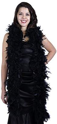 ZUCKER Heavy Weight Chandelle Feather boa Solid Colors - Black