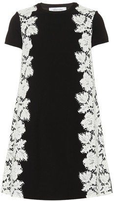 Valentino Crepe and lace minidress