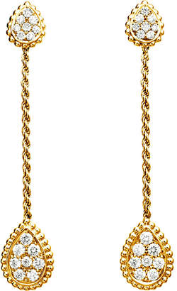 Boucheron Serpent Bohème 18ct yellow-gold and diamond drop earrings