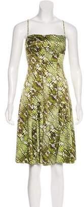 Just Cavalli Satin Knee-Length Dress