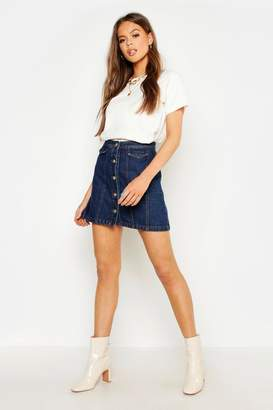 b91cb570ec Button Front Denim Skirt - ShopStyle UK
