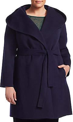 Marina Rinaldi Marina Rinaldi, Plus Size Women's Nuvola Belted Wool Coat