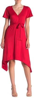 Velvet Torch Sharkbite Hem Short Sleeve Dress