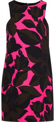 Milly Floral-Print Stretch-Cady Mini Dress