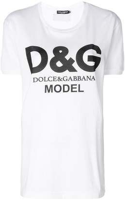 Dolce & Gabbana Model logo T-shirt