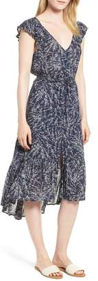 Lucky Brand Felice Floral Print Midi Dress