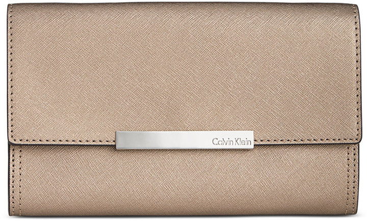 Calvin KleinCalvin Klein Saffiano Leather Evening Clutch