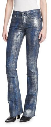 Ralph Lauren Collection 867 Coated Boot-Cut Jeans, Mercury Indigo $1,190 thestylecure.com
