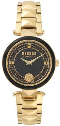 Versus By Versace Versus Women's Convent Garden Crystal Gold Bracelet Watch 36mm