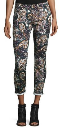 7 For All Mankind The Ankle Skinny Printed Jeans, Underground Paisley $199 thestylecure.com