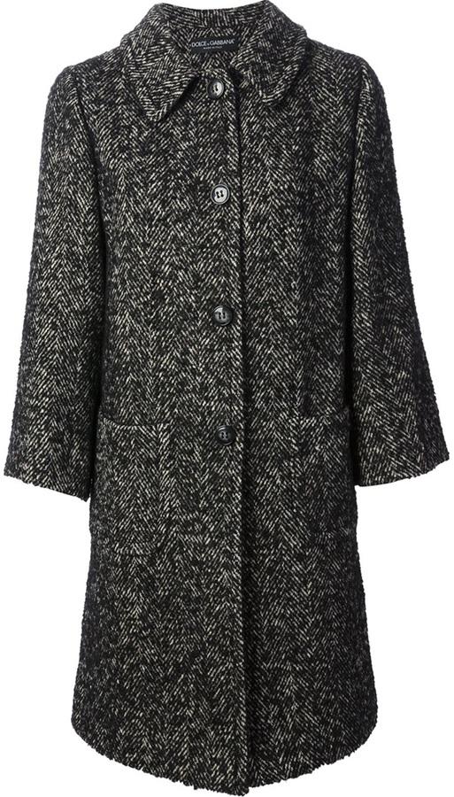 Dolce & Gabbana oversized tweed coat