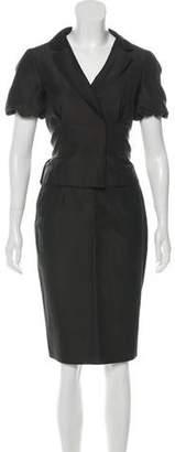 Giambattista Valli Silk & Wool-Blend Skirt Suit