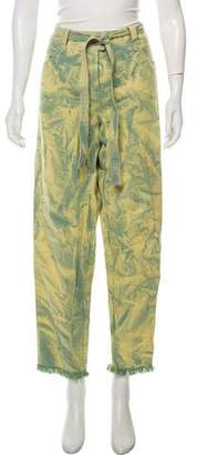 Leroy Veronique Straight-Leg Tie-Dye Pants