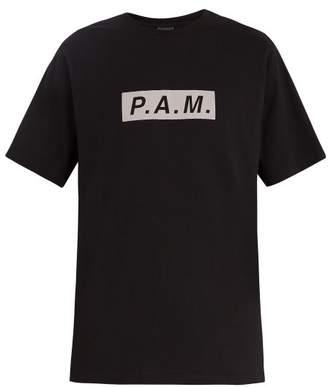 PAM Logo Cotton T Shirt - Mens - Black