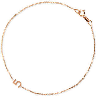 Maya Brenner Designs Mini Number Bracelet, Rose Gold