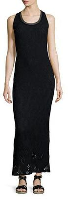 Fuzzi Sleeveless Crochet Maxi Dress, Black $450 thestylecure.com