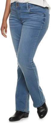 Mudd Juniors' Plus Size Low-Rise Slim Bootcut Jeans