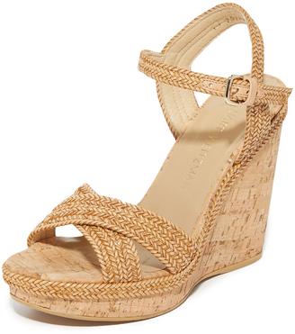Stuart Weitzman Minx Wedge Sandals $445 thestylecure.com