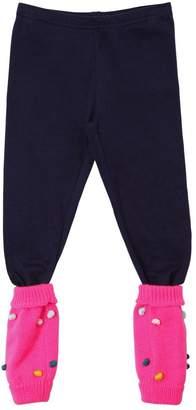 Billieblush Cotton Jersey Leggings W/ Legwarmers