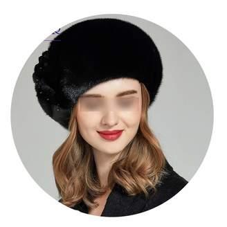 30feb70a410a6 MT-Style Whole Mink Fur Winter Hats Women Real Mink Fur Berets Warm Genuine  Fur