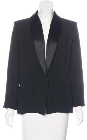 Saint Laurent Yves Saint Laurent Structured Satin-Trimmed Blazer